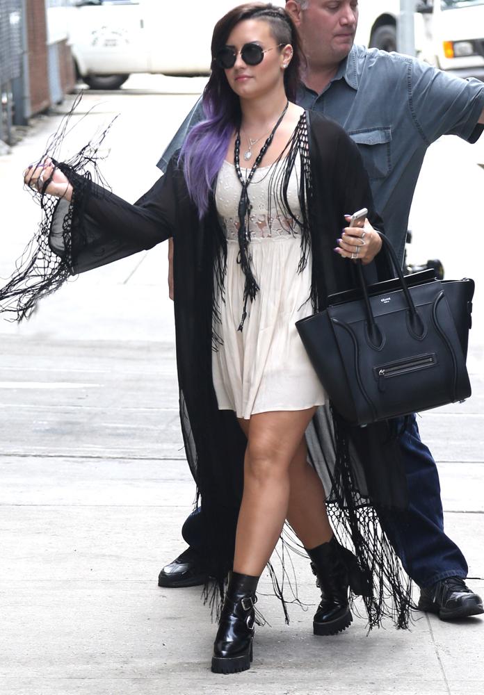 Demi-Lovato-Celine-Luggage-Tote-11