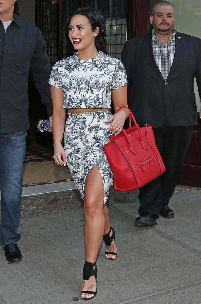 Demi-Lovato-Celine-Luggage-Tote-8