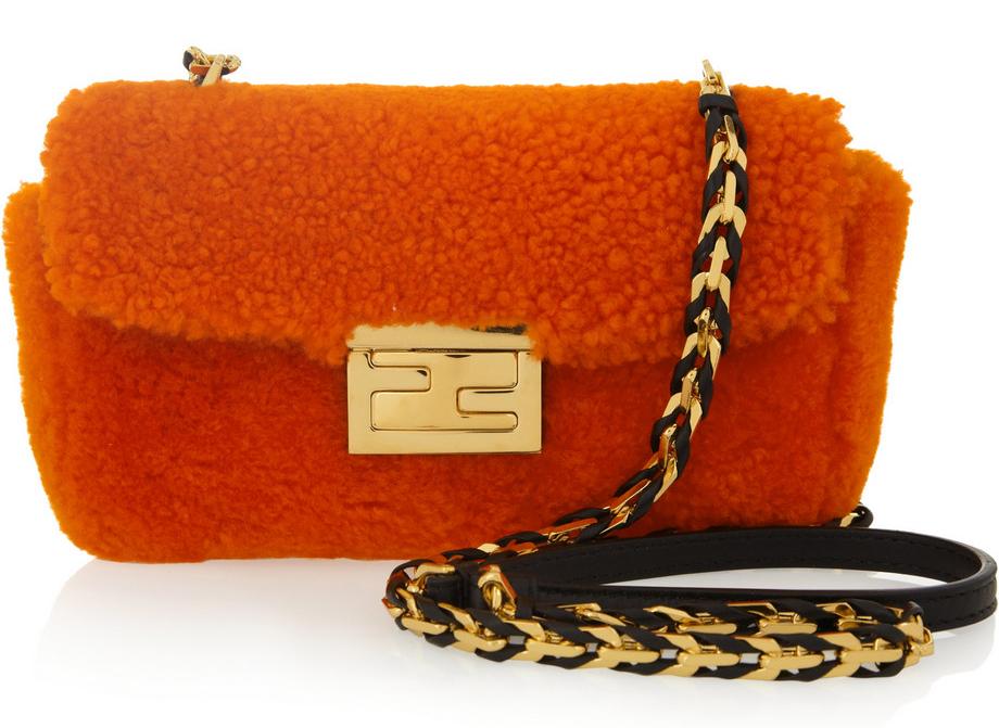 Fendi-Baguette-Mini-Shearling-Bag