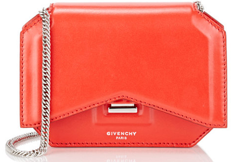 Givenchy-Bow-Cut-Chain-Wallet-Red
