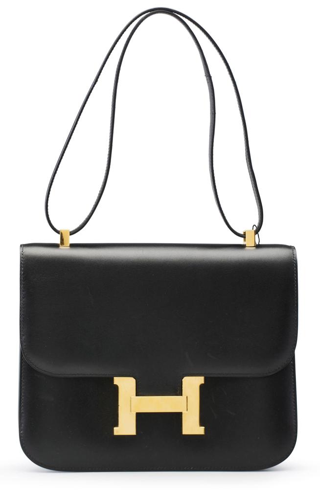 Hermes-Black-Calfbox-Constance-Bag-25cm