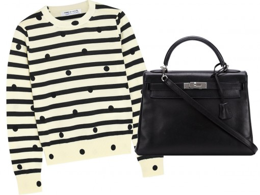 Hermes Black Kelly and Sweater