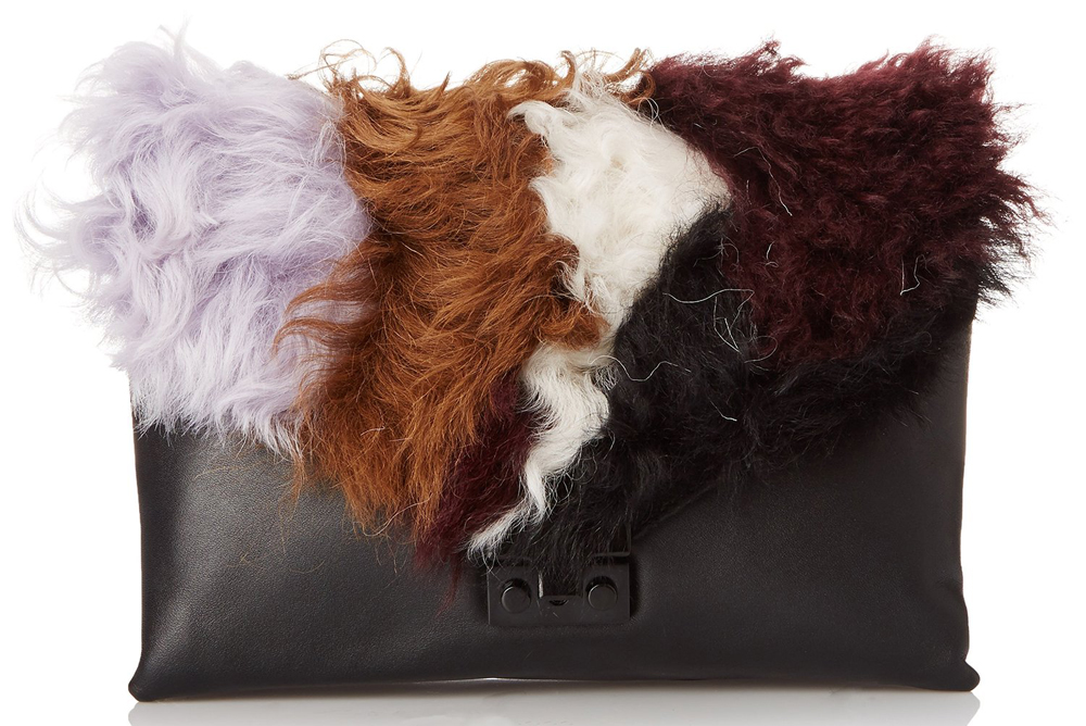 Loeffler-Randall-Shearling-and-Leather-Lock-Clutch