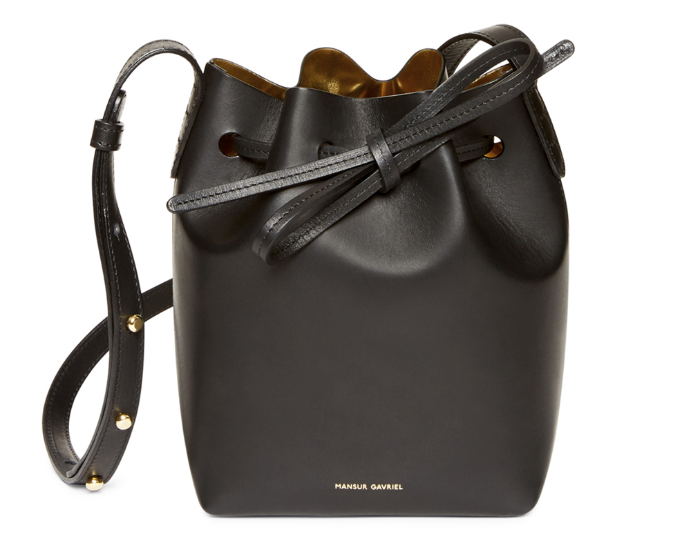 Mansur Gavriel Mini Mini Bucket Bag, $395 via Kirna Zabete