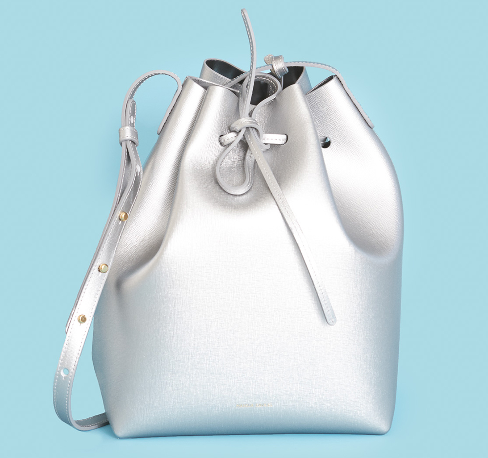 Mansur Gavriel Saffiano Bucket Bag, $745 via Opening Ceremony