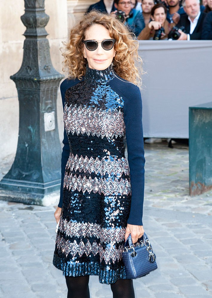 Marisa-Berenson-Christian-Dior-Micro-Lady-Dior-Bag