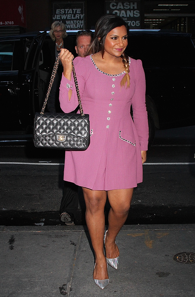Mindy-Kaling-Chanel-Classic-Flap-Bag-3