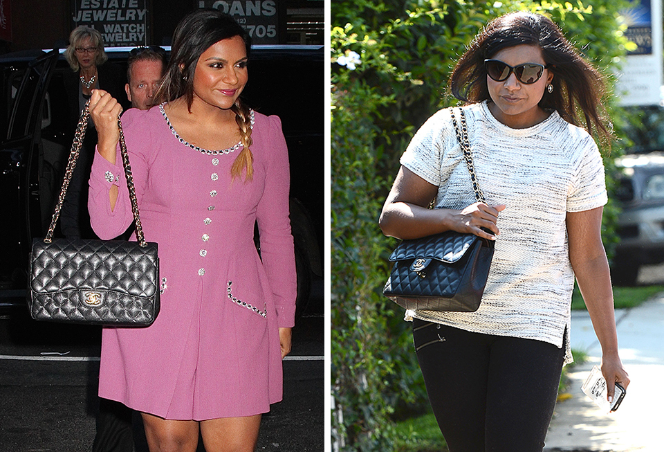 Just Can T Get Enough Mindy Kaling And Her Chanel Classic Flap Bag Purseblog
