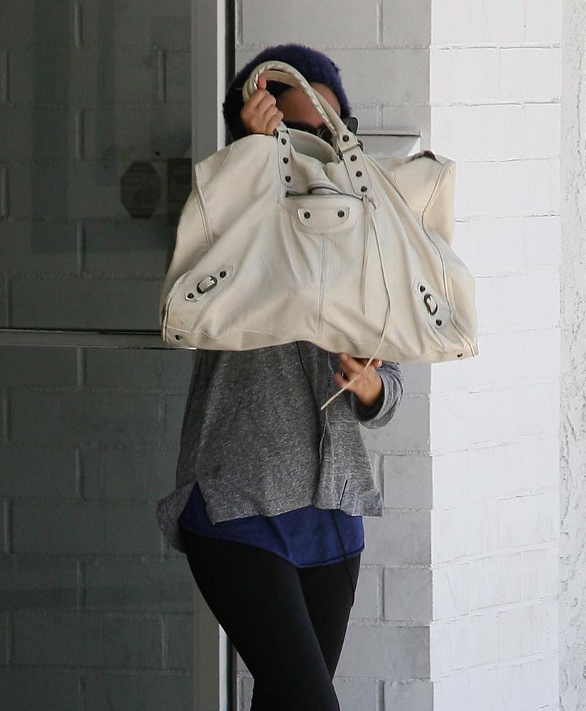 Nicole Richie Balenciaga Weekender Bag Purseblog