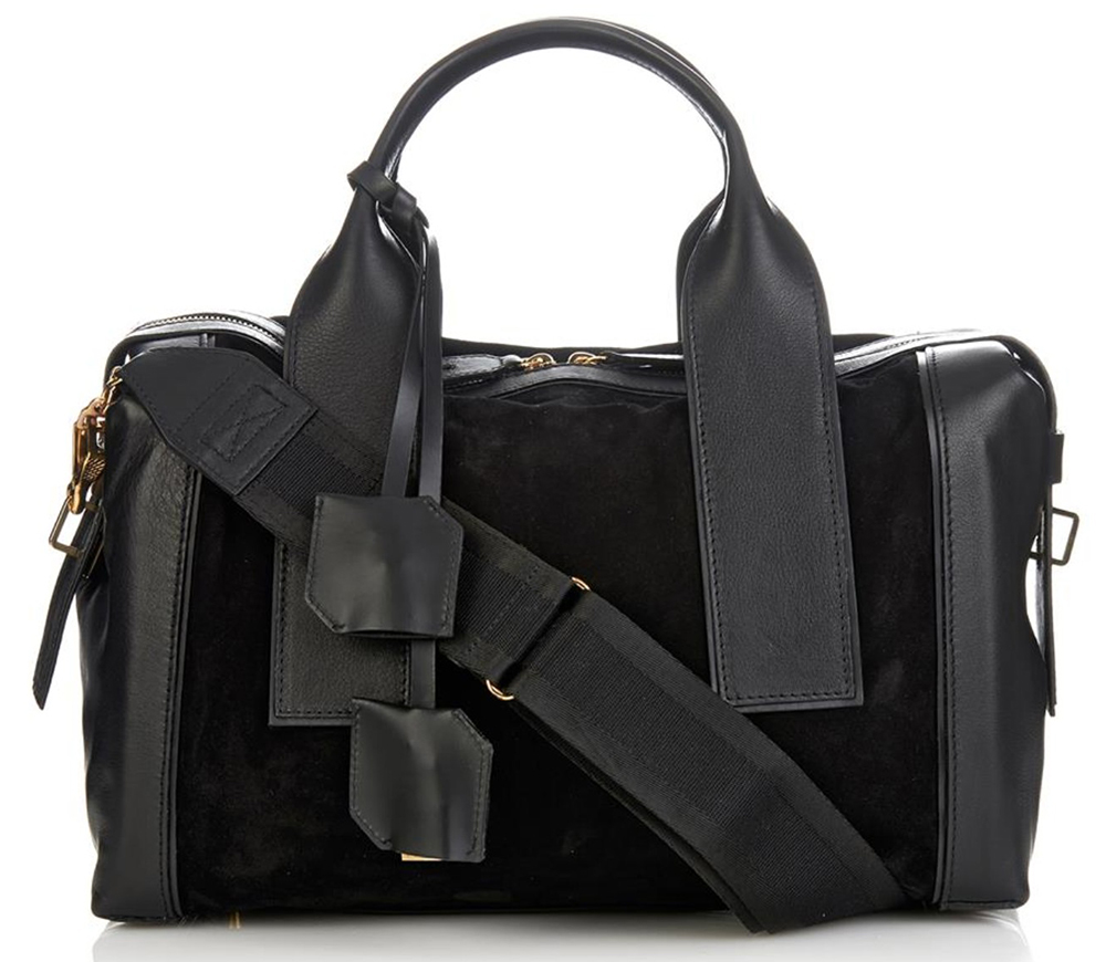 Pierre-Hardy-Suede-and-Leather-Satchel