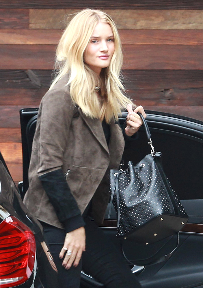 Rosie-Huntington-Whiteley-Saint-Laurent-Emmanuelle-Studded-Bucket-Bag