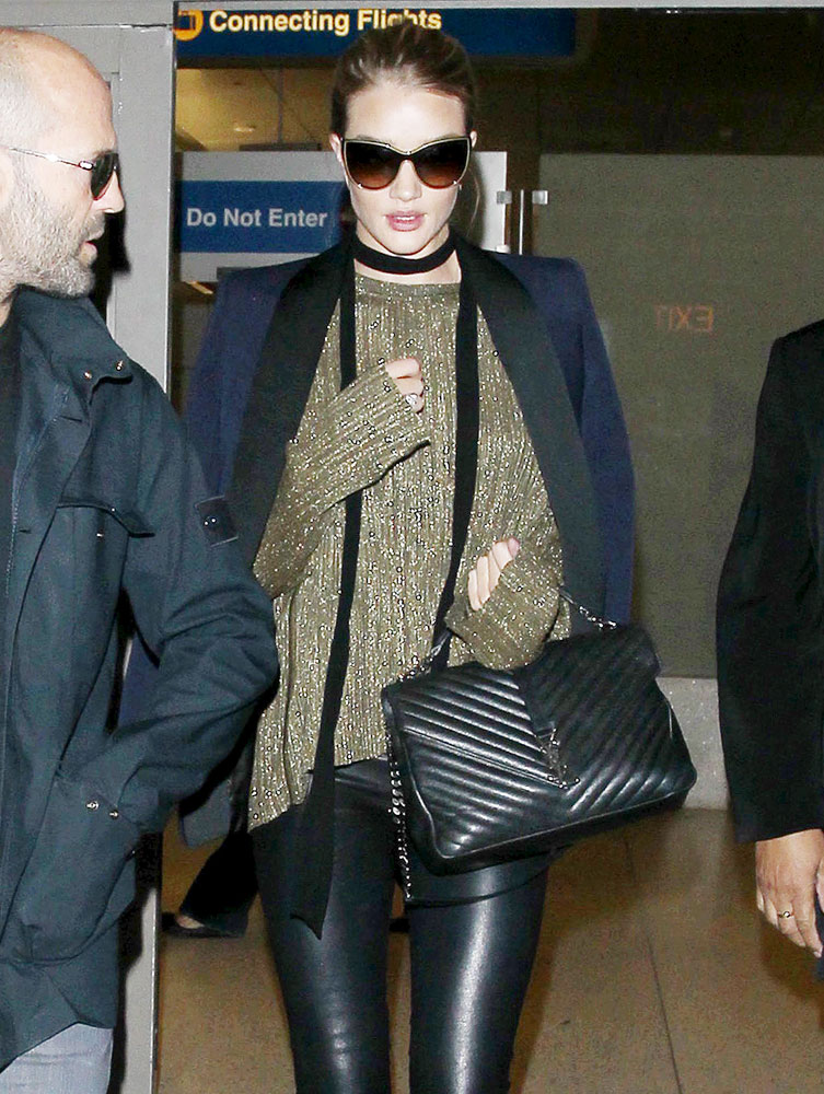 Rosie-Huntington-Whiteley-Saint-Laurent-Monogram-Chain-Shoulder-Bag