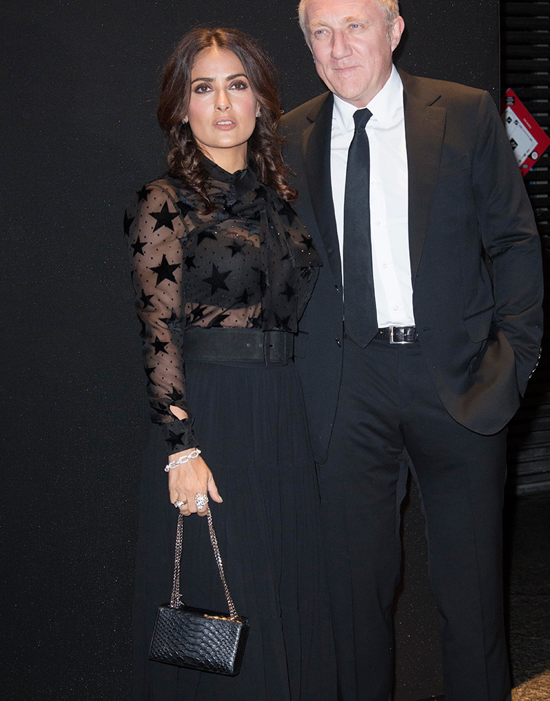 Salma-Hayek-Probably-Saint-Laurent-Box-Clutch