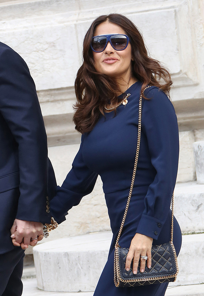 Salma-Hayek-Stella-McCartney-Falabella-Studded-Mini-Bag