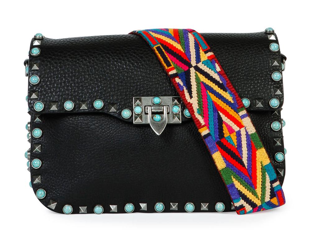 Valentino-Rockstud-Turquoise-Stud-Saddle-Bag