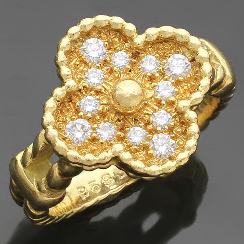 Van-Cleef-and-Arpels-Vintage-Diamond-Alhambra-Ring