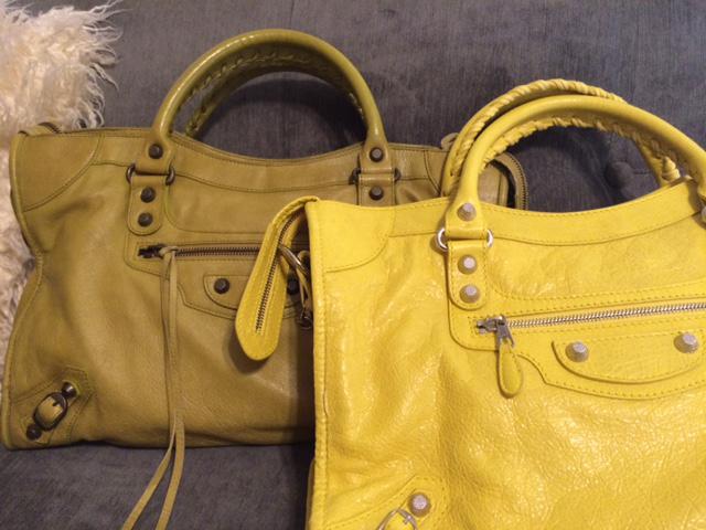 Yellow-Balenciaga-City-Bags