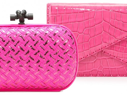 Bottega Veneta Pink Clutches