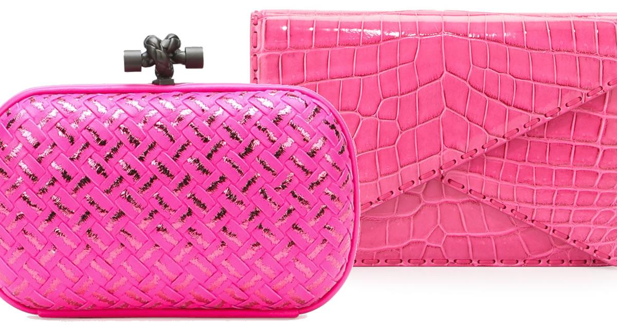 Bottega Veneta Pink Clutches
