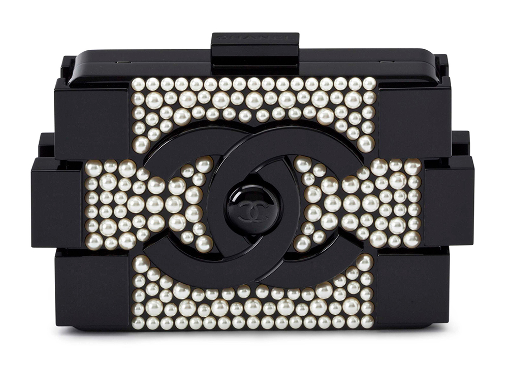 Chanel Boy Brick Pearl Clutch, $16,000 via Christie's