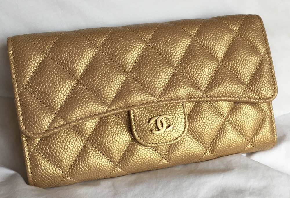 Chanel-Classic-Flap-Wallet-Gold