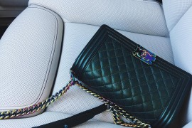 Currently Coveting: Kylie Jenner's Iridescent Chanel Boy Bag