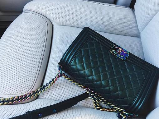 Chanel Iridescent Boy Bag Kylie Jenner