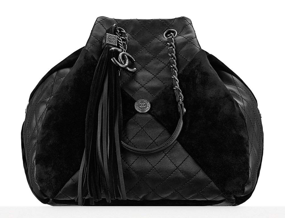 Chanel-Leather-and-Suede-Patchwork-Drawstring-Bag-4300