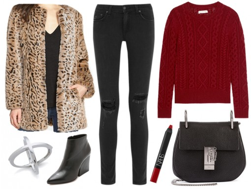 Weekend Outfit: Vampy-Casual with the Chloé Drew Bag
