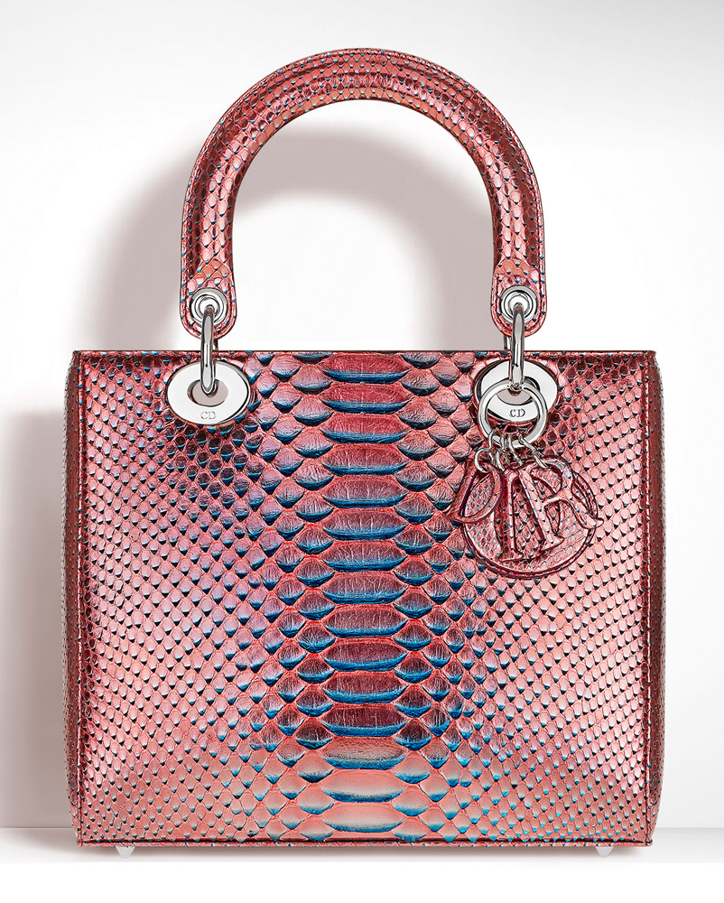 Christian-Dior-Lady-Dior-Metallic-Python-Bag