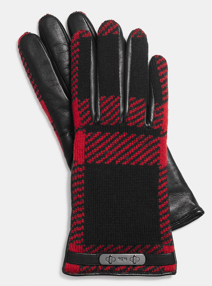 Coach-Mount-Plaid-Gloves