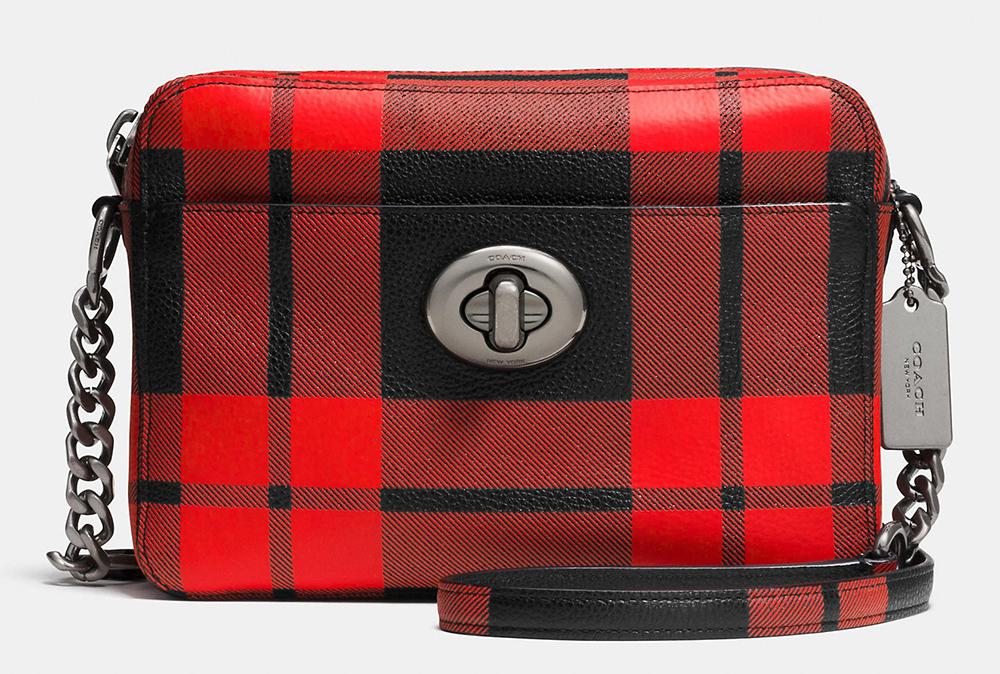Coach-Mount-Plaid-Turnlock-Camera-Bag
