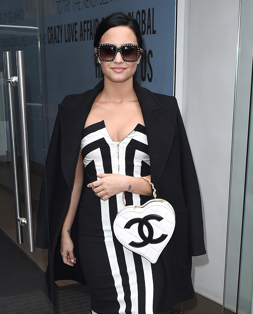 Demi-Lovato-Chanel-Heart-Top-Handle-Bag