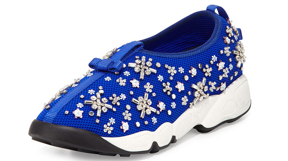 Dior Crystal-Embellished Mesh Trainer_blue