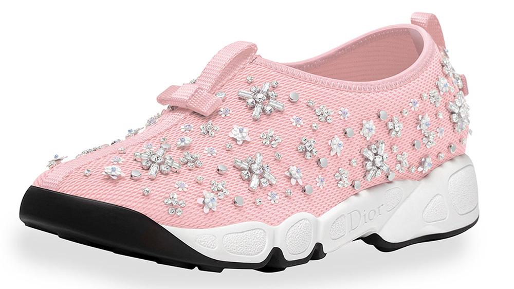 Dior Crystal-Embellished Mesh Trainer_pink