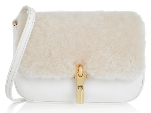 Elizabeth and James Cynnie Nano Shearling Bag