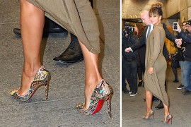 Python, PVC & Poms: Trendy Pumps Triumph in Our Very First Celeb Shoe Round-up