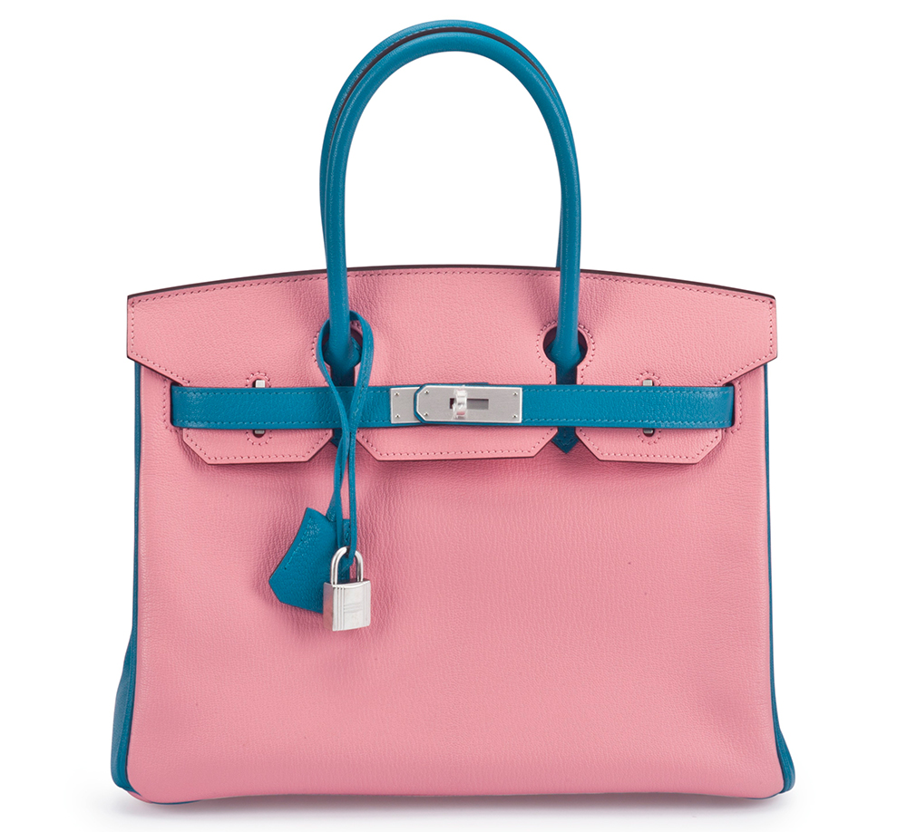 Hermes-Birkin-Special-Order-Horseshoe-5P-Pink-and-Turquoise-Chevre-30cm