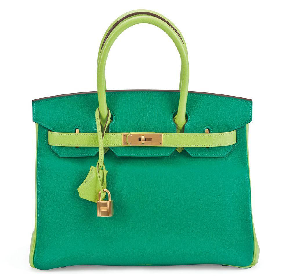 21a7f255f600 A Special Order Horseshoe 30cm Menthe   Vert Cru Chevre Leather Birkin Bag  with Brushed Palladium Hardware