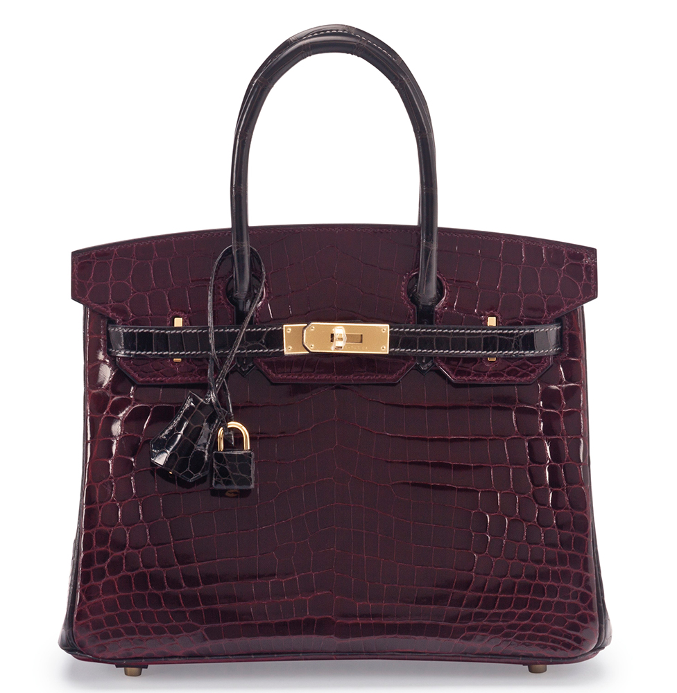89e4284966aa Hermes-Birkin-Special-Order-Horseshoe-Shiny-Bordeaux-and-Graphite-Nilo -Crocodile-30cm