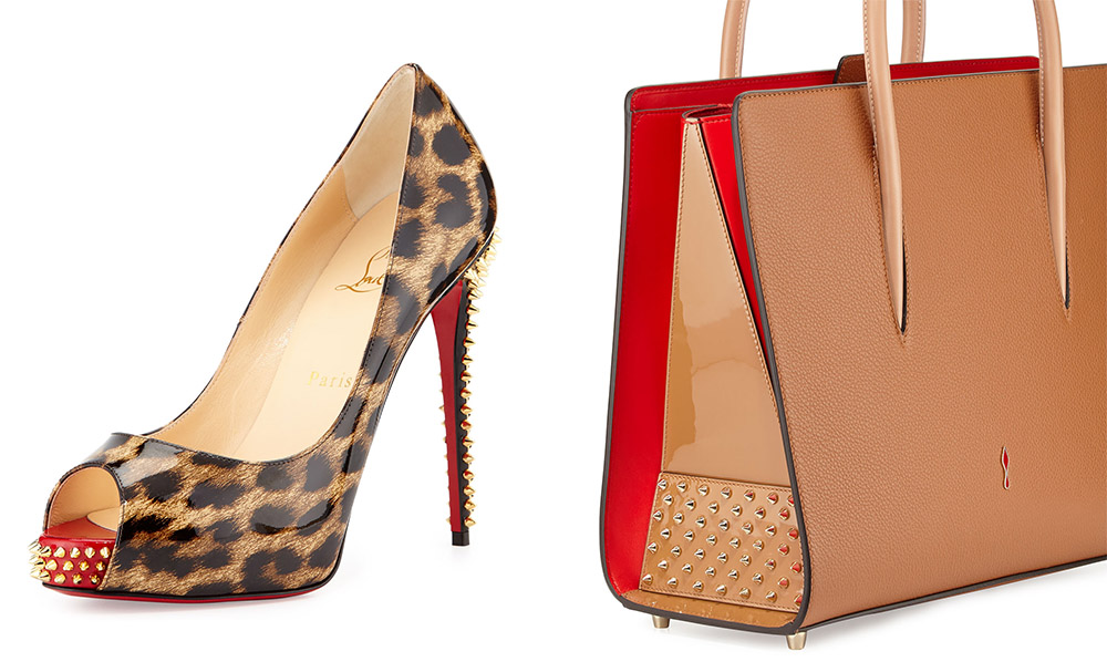 Christian Louboutin NVPS Leopard-Print Red Sole Pump [$1,045 via Neiman Marcus] Christian Louboutin Paloma Large Triple-Gusset Tote Bag [$2,490 via Bergdrof Goodman]
