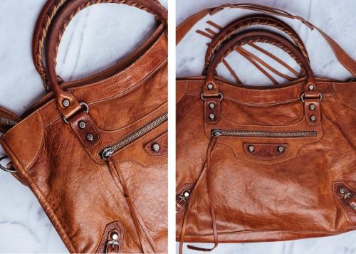 Rare Balenciaga Bag Dark Caramel City