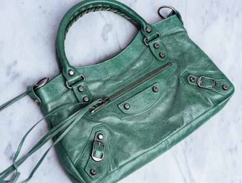 Rare Balenciaga Bag Emerald Green