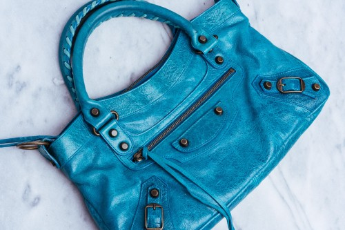 Rare Balenciaga Bags Turquoise
