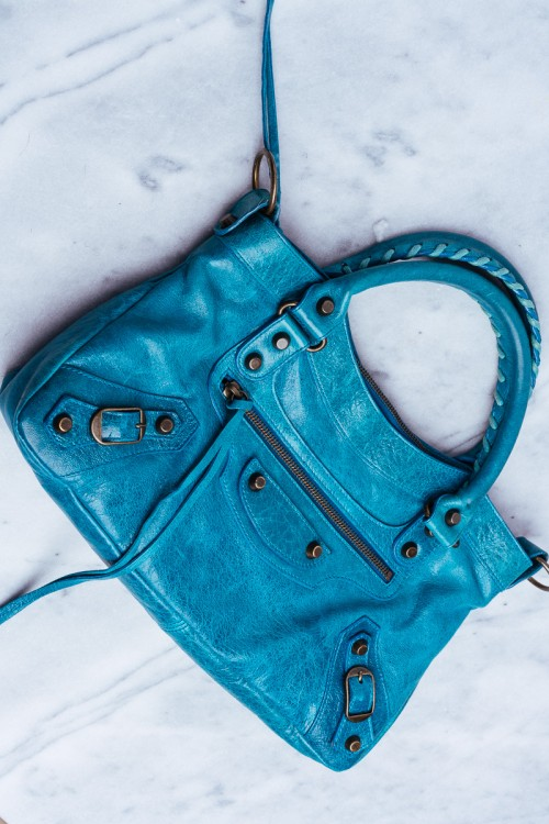 Rare Balenciaga Bags Turquoise First