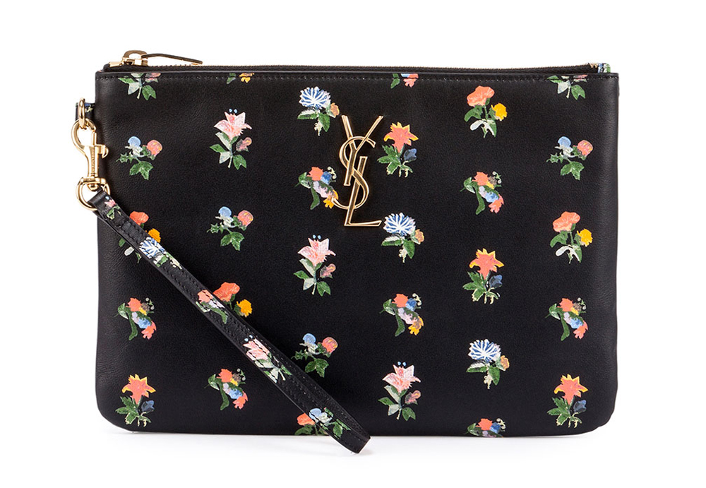 Saint-Laurent-Monogram-Prairie-Flower-Pouch