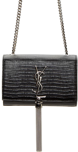 Saint-Laurent-Monogramme-Lizard-Embossed-Shoulder-Bag