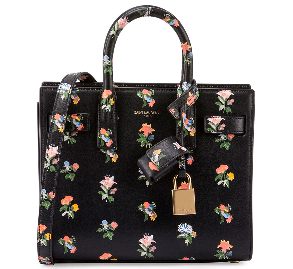 Saint-Laurent-Prairie-Flower-Nano-Sac-de-Jour-Bag