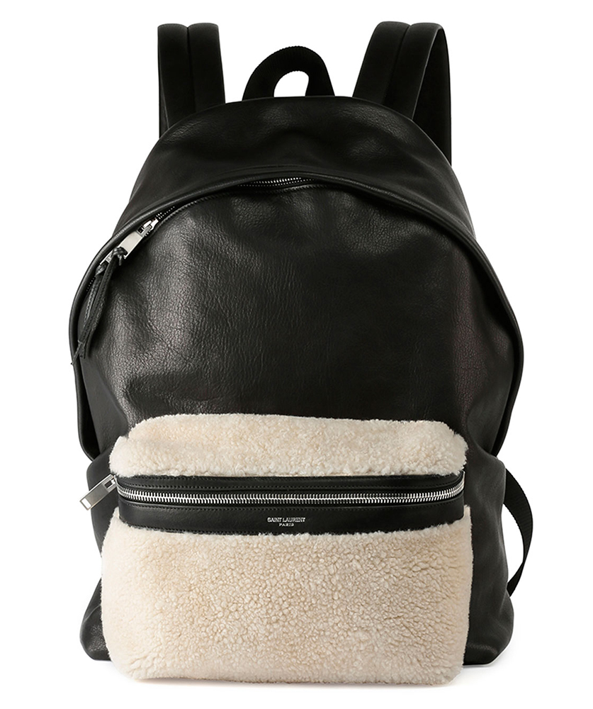 Saint-Laurent-Rider-Shearling-Backpack