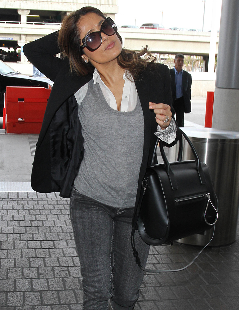 Salma-Hayek-Black-Satchel